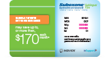 SUBOXONE® (buprenorphine and naloxone) Sublingual Film (CIII) savings card example